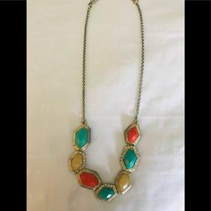Colorful w/assorted stones gold filled necklace.
